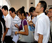 job seekers in china