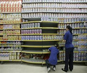 milk in supermarket china